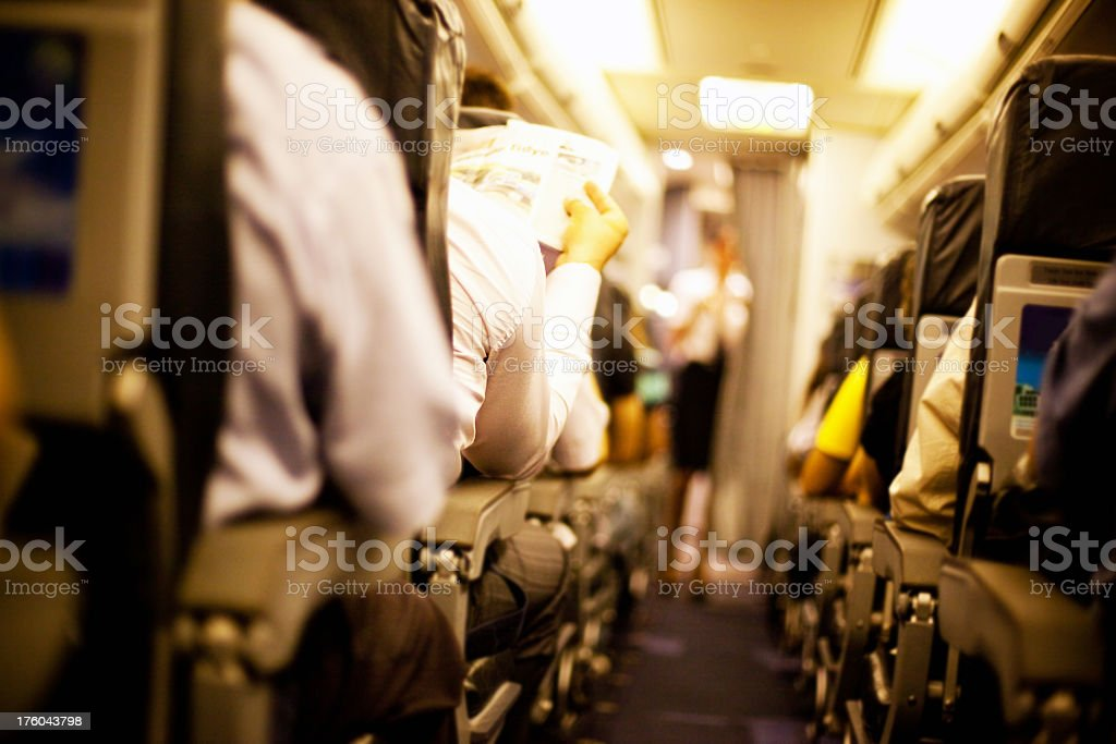 Passengers royalty-free stock photo