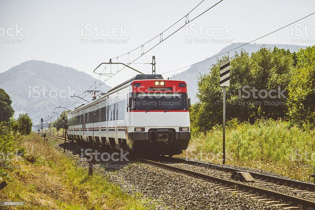 Passengers' train stock photo