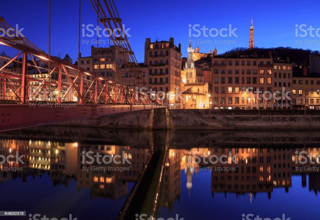 Passerelle Saint-Vincent stock photo