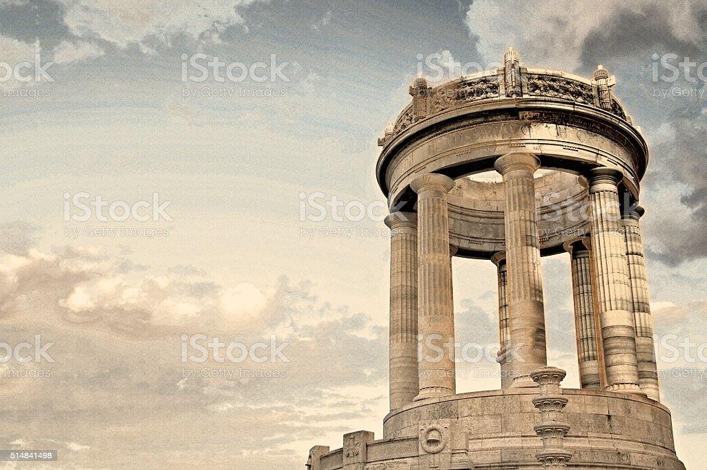Passeto monument  under golden sun Ancona Italy stock photo