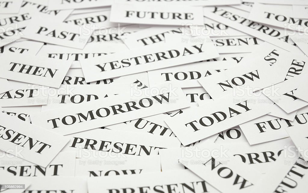 Passing Days! Time Word Theme. royalty-free stock photo