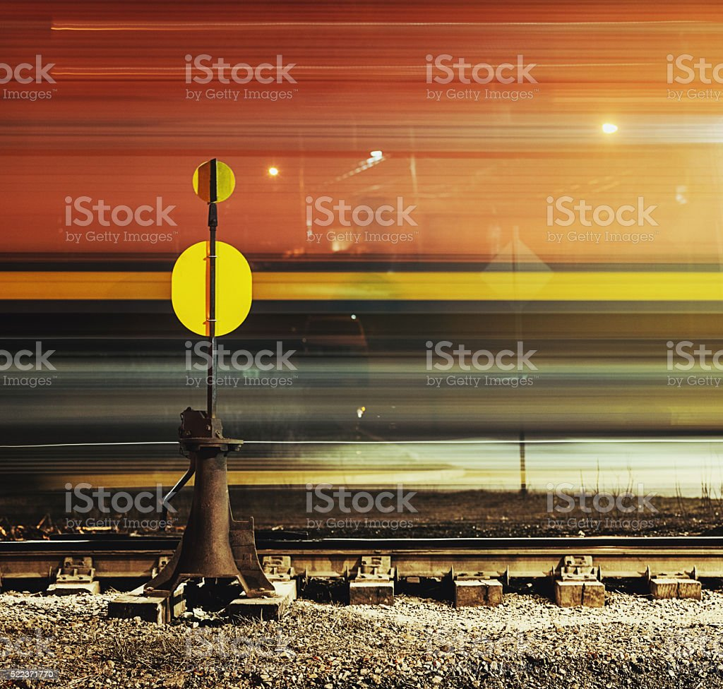 Passing Freight Train stock photo
