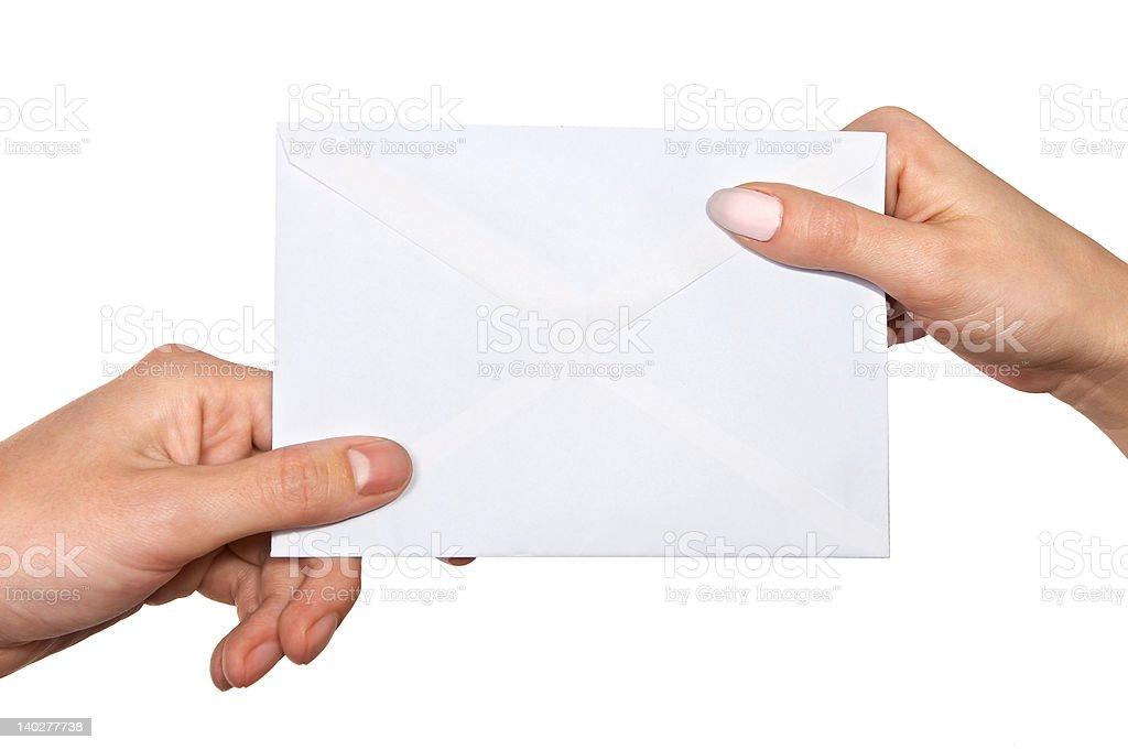 passing mail stock photo