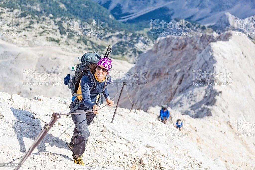 passing mountain ridge royalty-free stock photo