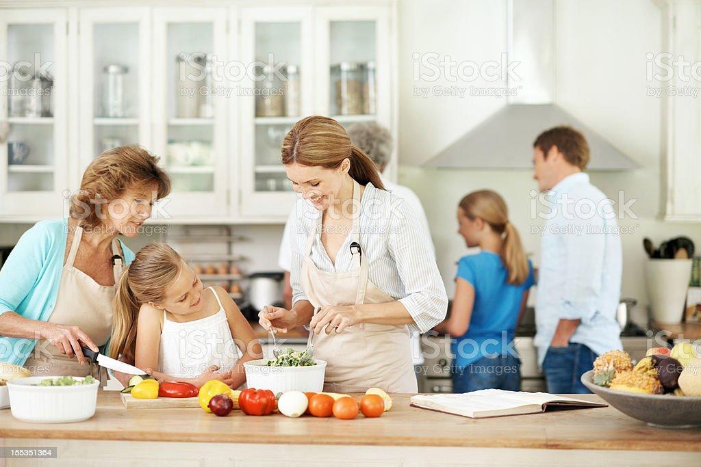 Passing on family recipes royalty-free stock photo