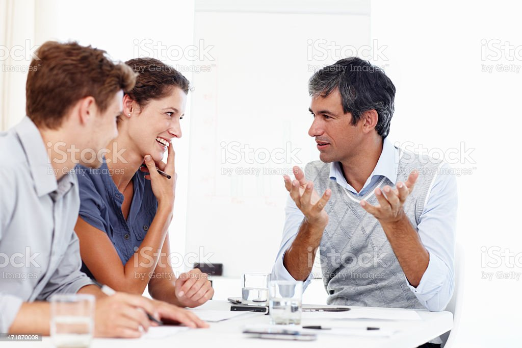 Passing on some business lessons... royalty-free stock photo