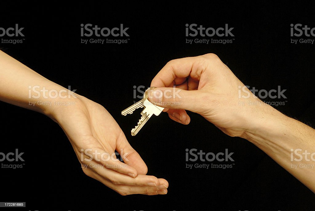 Passing Over the Keys. royalty-free stock photo
