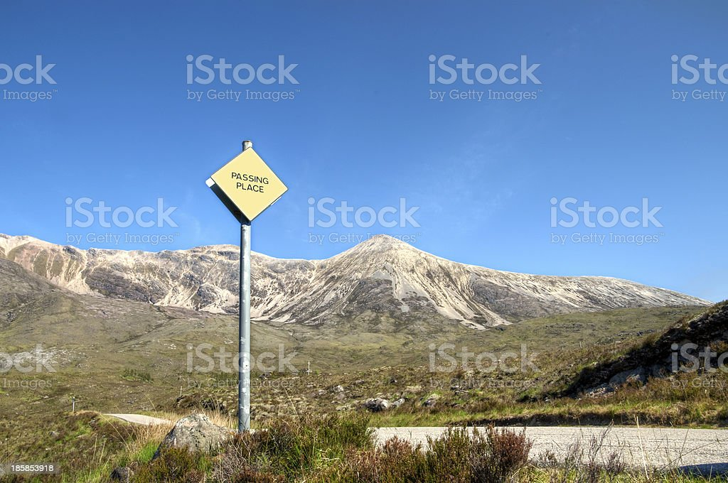 Passing place, Scotland stock photo