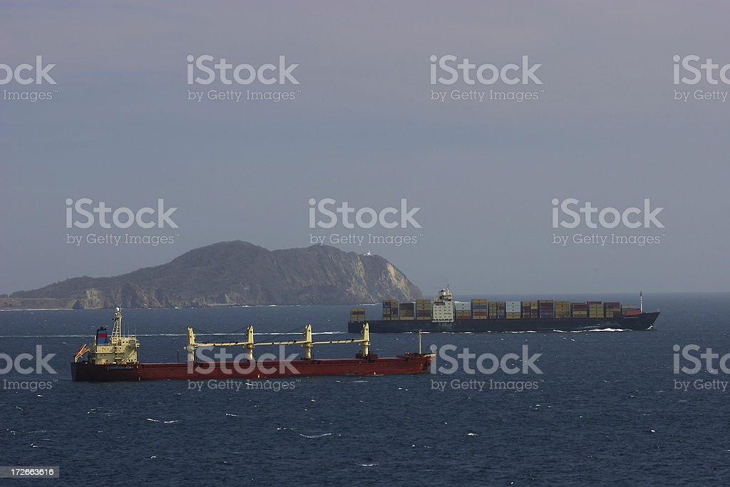 Passing Ships royalty-free stock photo