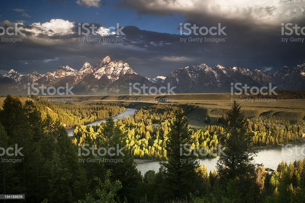 Passing Storm in the Tetons royalty-free stock photo