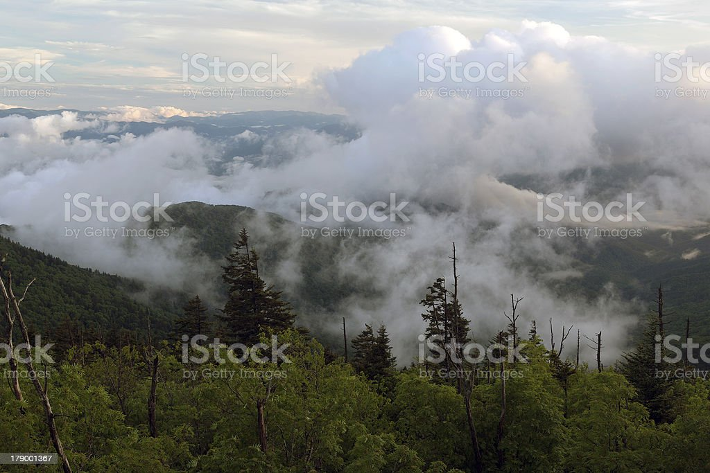 Passing Storm Over The Smoky Mountains royalty-free stock photo