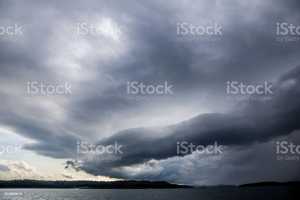 Passing Storm stock photo