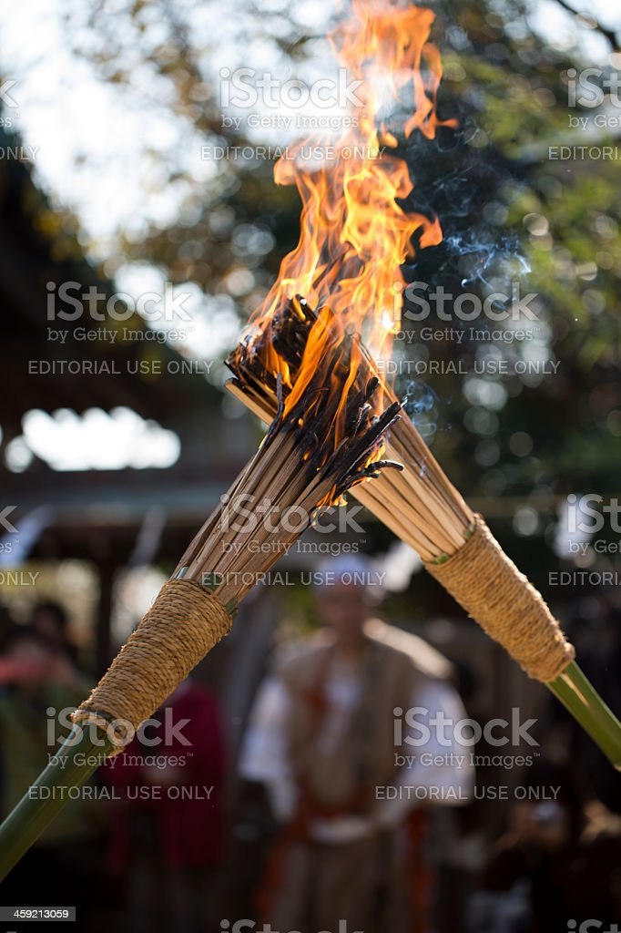 Passing the Torch Flame stock photo