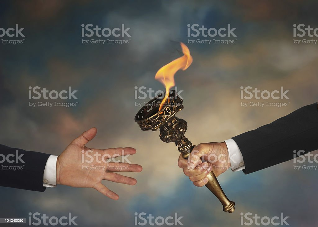 Passing the Torch royalty-free stock photo