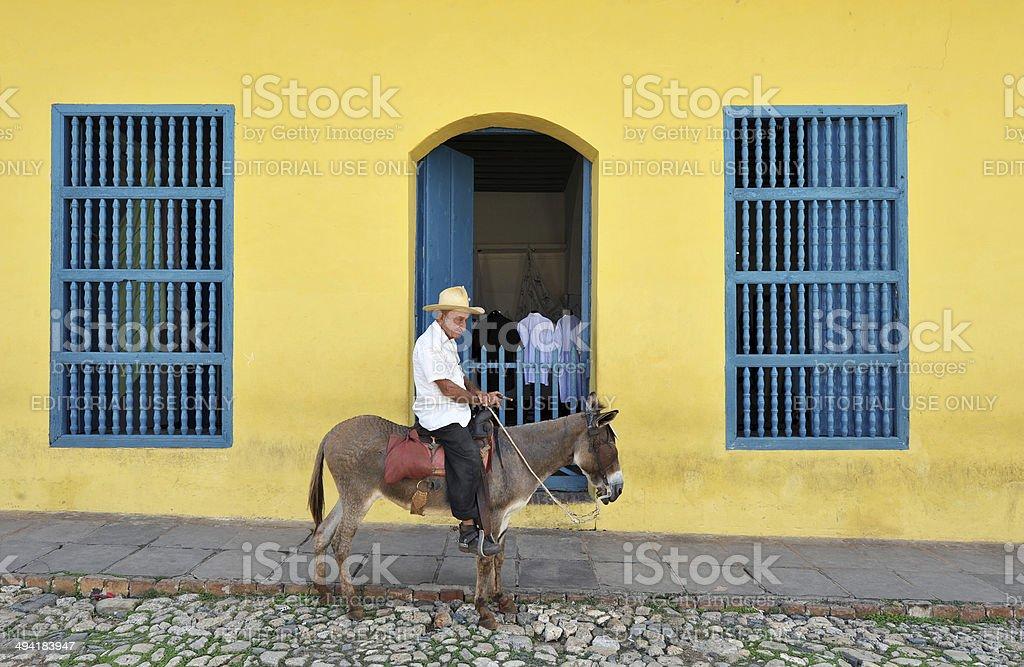 Passing time, Trinidad, Cuba stock photo