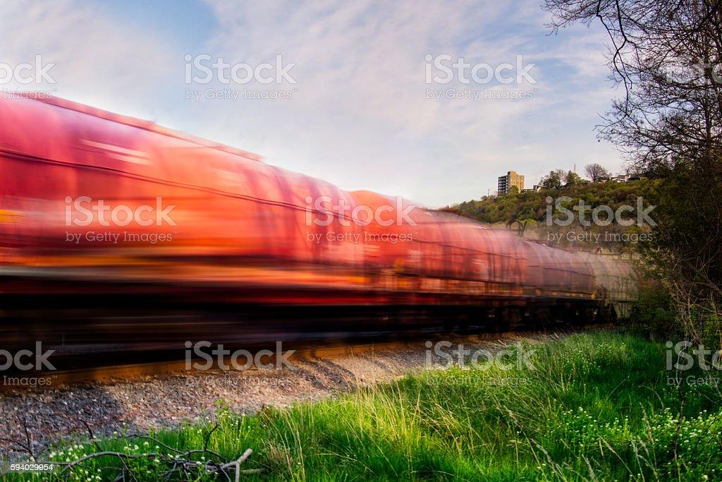Passing Train stock photo