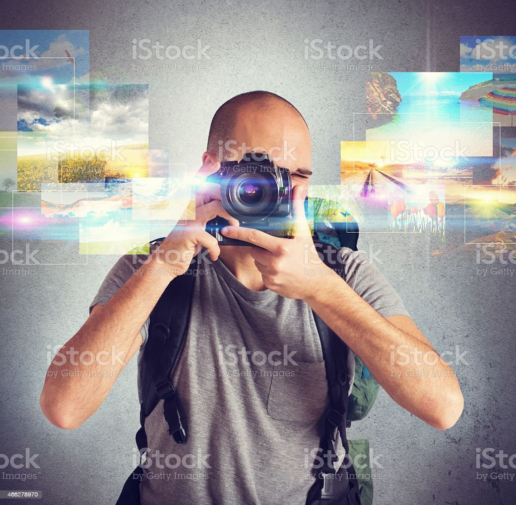 Passion for photography stock photo