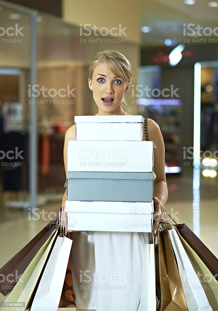 Passion for shopping royalty-free stock photo