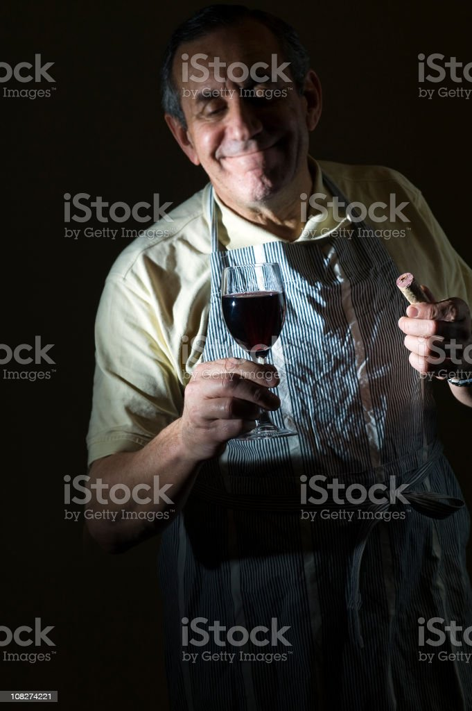 Passion for wine. royalty-free stock photo