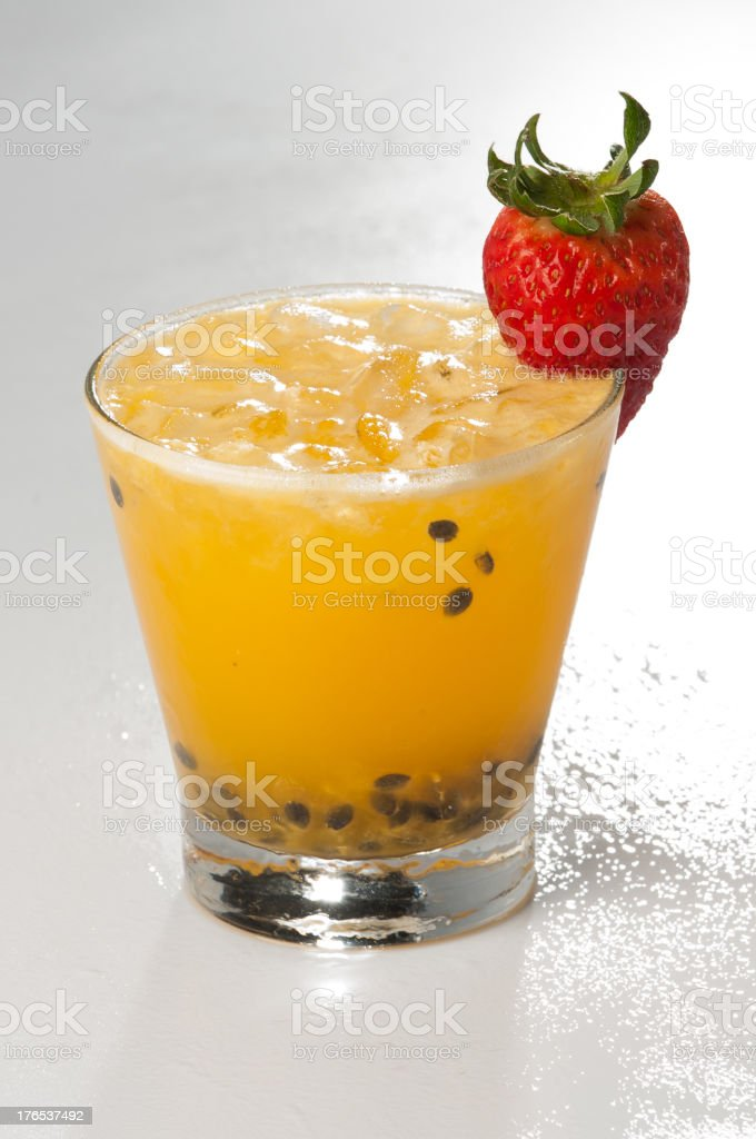 Passion Fruit Cocktail royalty-free stock photo