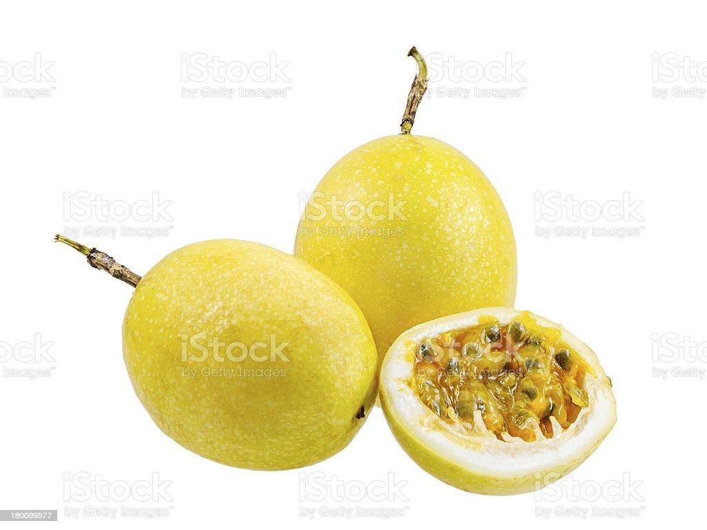 Passion fruit isolated royalty-free stock photo