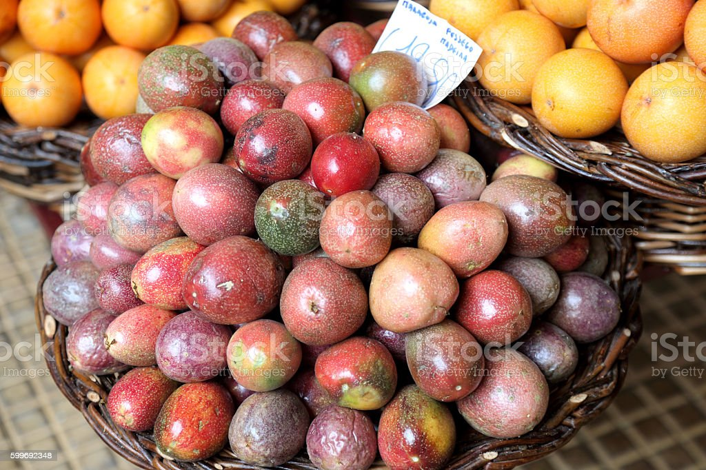 Maracuja (passion fruit) stock photo