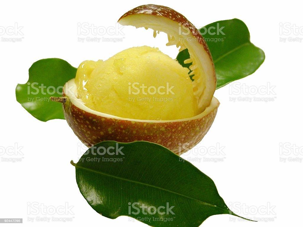 Passion Fruit Sorbet royalty-free stock photo