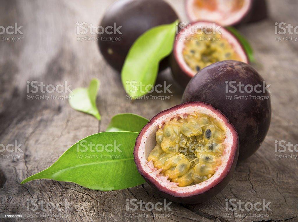 passion fruits stock photo