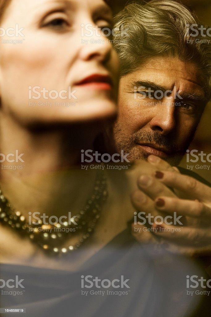 Passion . Heterosexual couple royalty-free stock photo