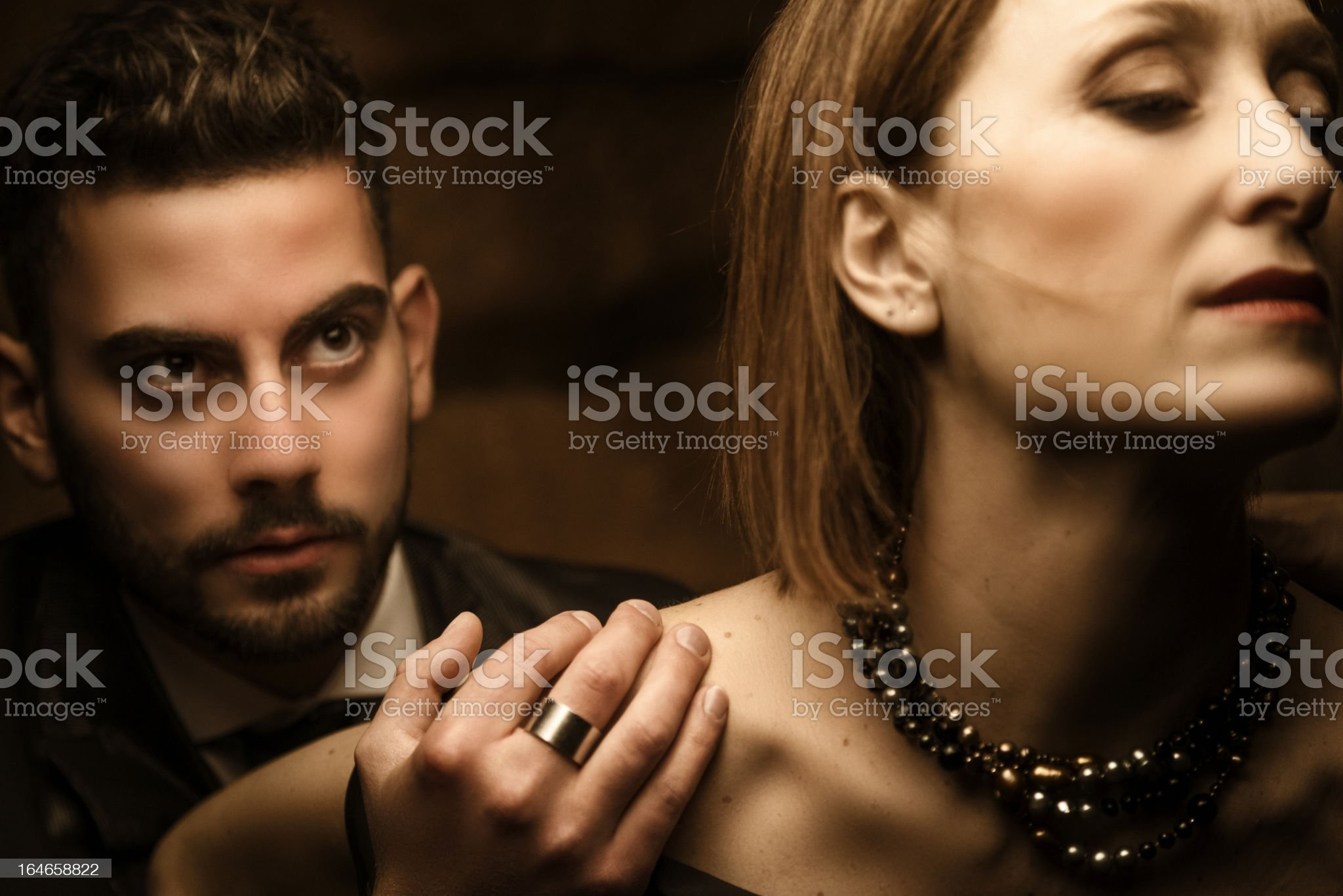 Passion . Heterosexual couple royalty-free stock photo