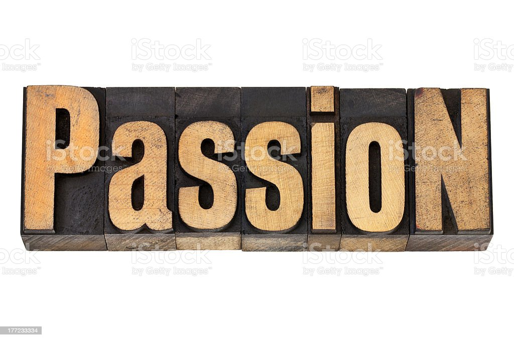 passion in wood type royalty-free stock photo