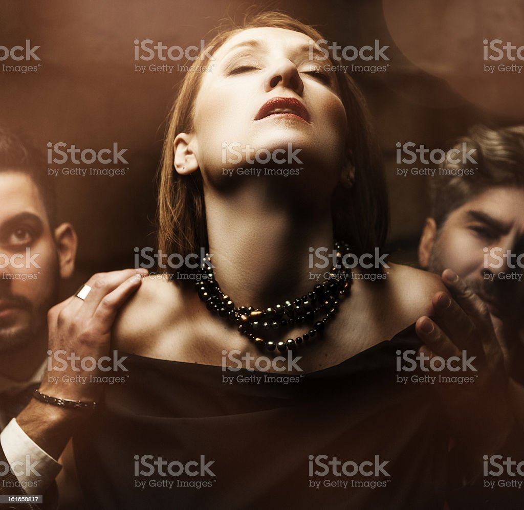 Passion . Manage a trois stock photo