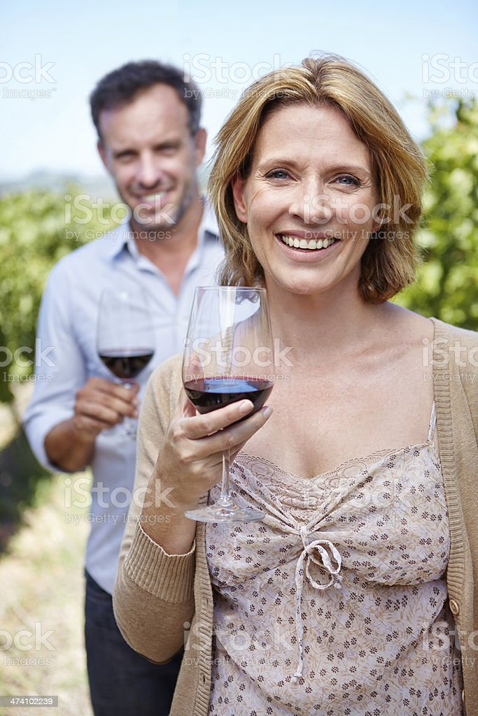 Passionate about great wine royalty-free stock photo