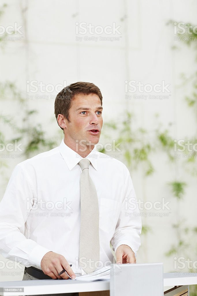 Passionate about my work royalty-free stock photo