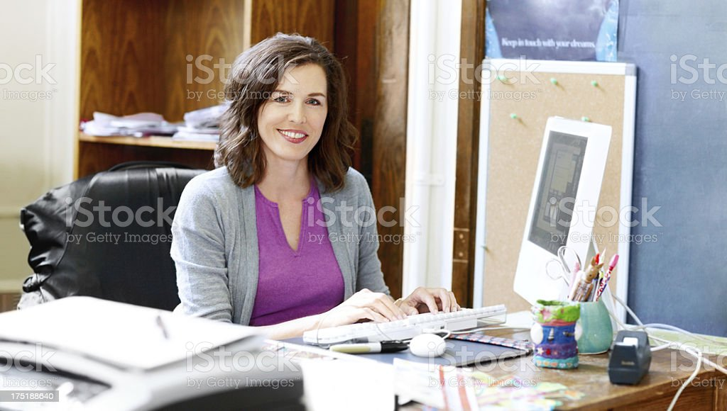 Passionate about teaching the youth! stock photo