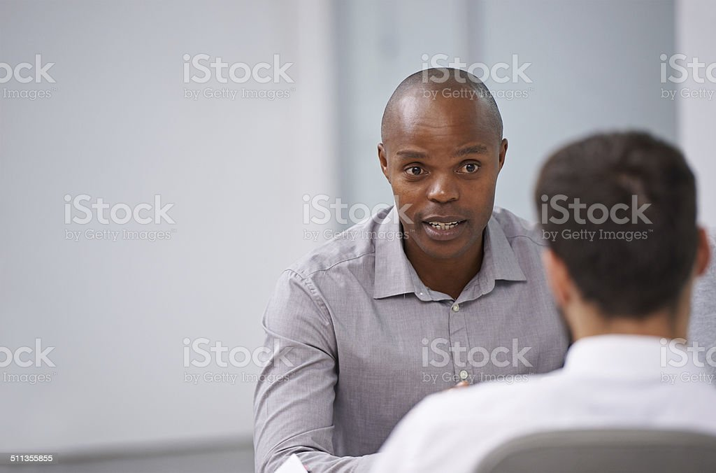 Passionate about what he does stock photo