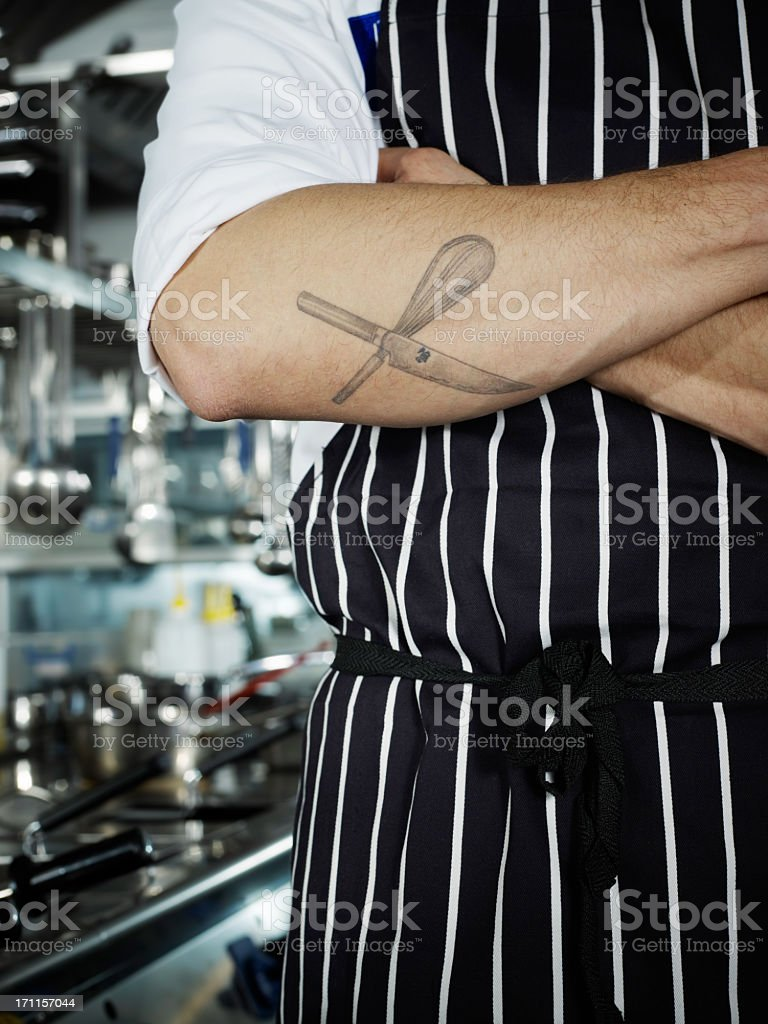 Passionate Chef royalty-free stock photo