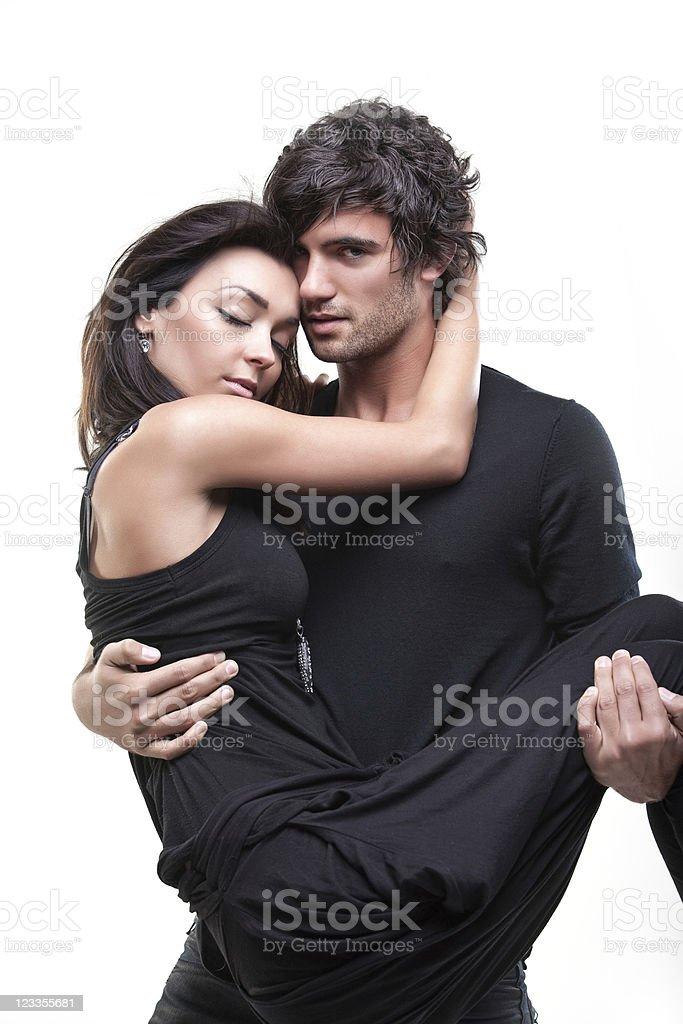 Passionate couple (Black shoot) royalty-free stock photo