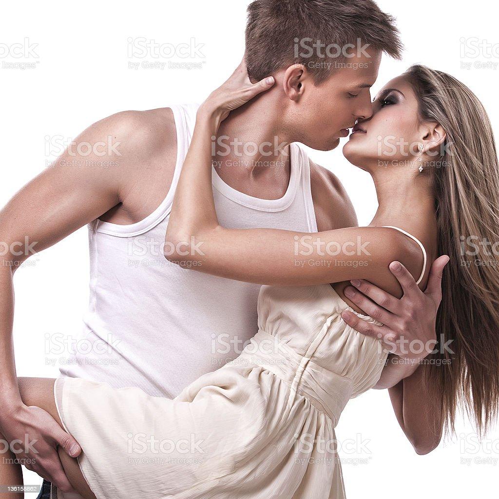 passionate couple stock photo