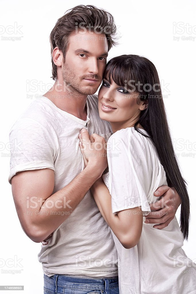 passionate couple royalty-free stock photo