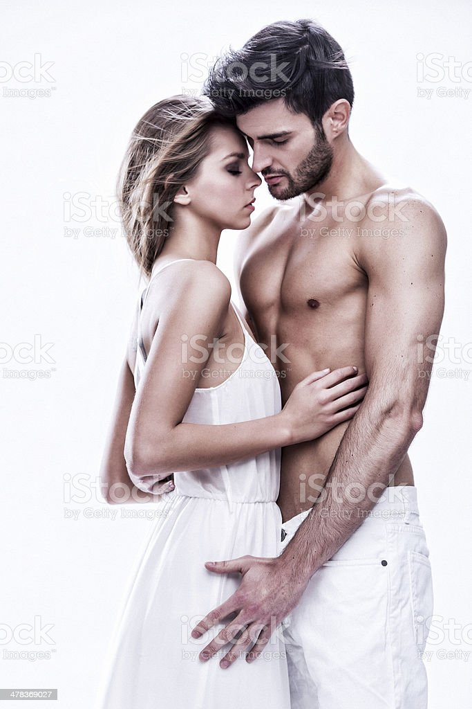 passionate couple stock photo