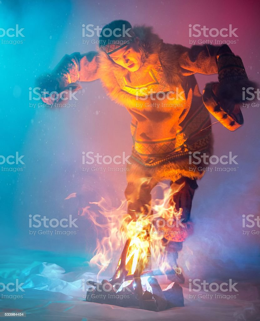 Passionate Dance of Fire stock photo