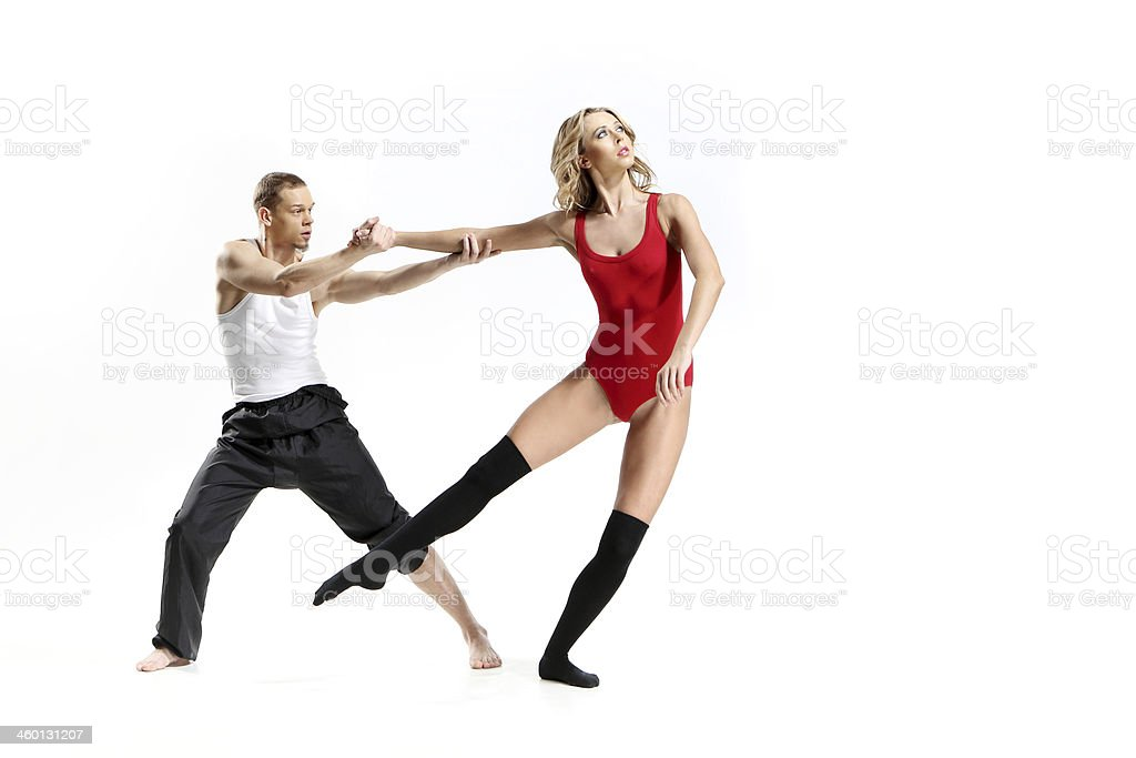 Passionate dance of two people royalty-free stock photo