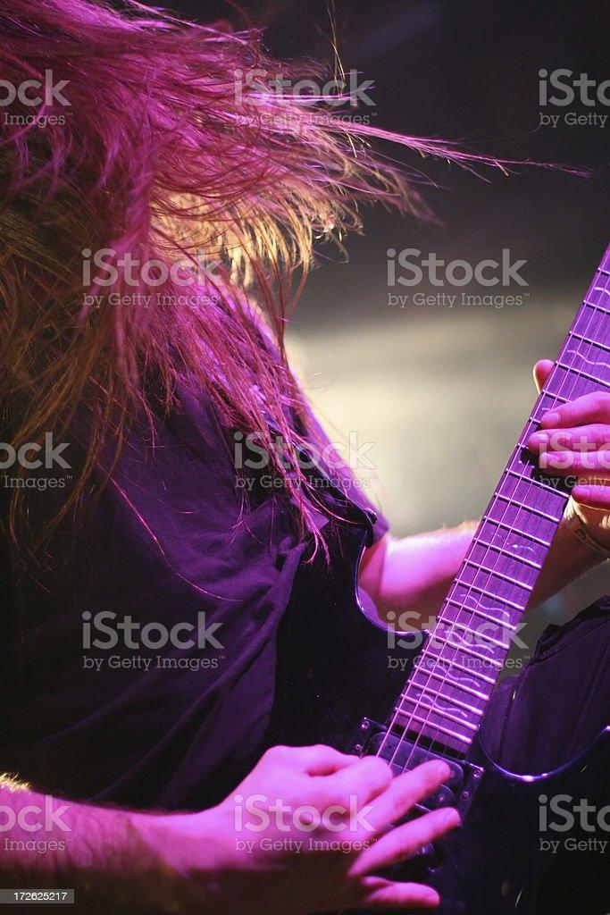 Passionate guitarist royalty-free stock photo