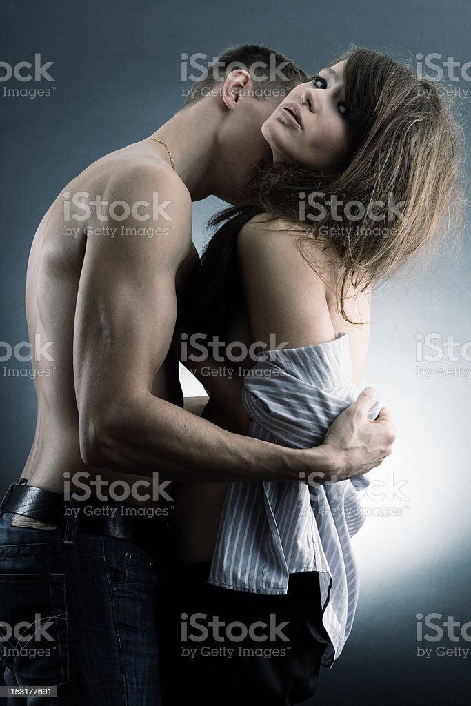 passionate loving couple. royalty-free stock photo