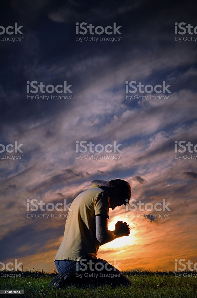 Passionate prayer royalty-free stock photo