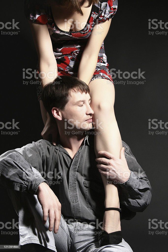 Passionate sexy couple. stock photo