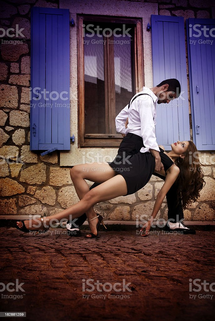 Passionate Tango royalty-free stock photo
