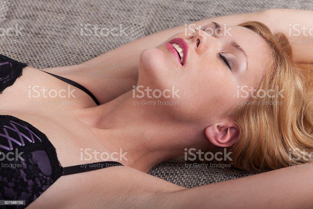 passionate woman stock photo