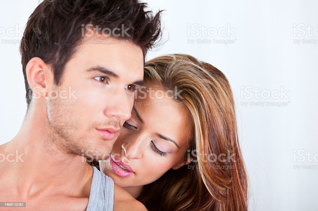 Passionate young couple royalty-free stock photo
